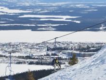 Smokey's Chair Lift with Beautiful Labrador City in the Background